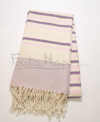 The Fouta Towel Chevron striped