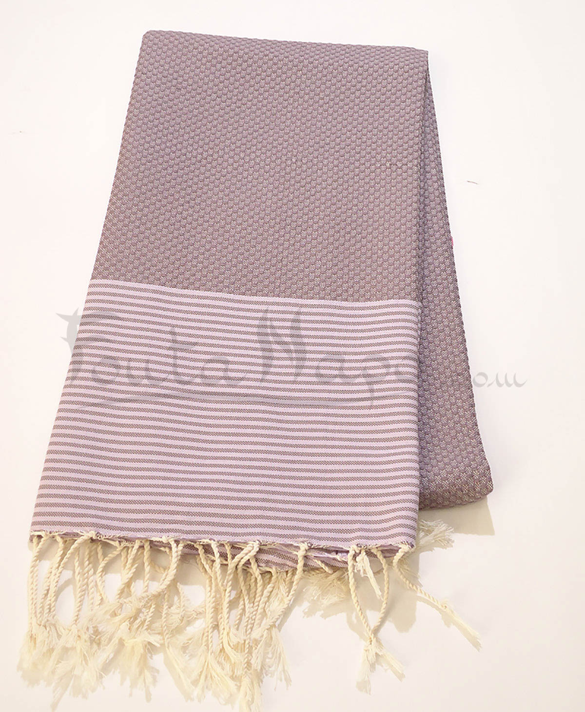 The Fouta Towel Honeycomb thin Stripes
